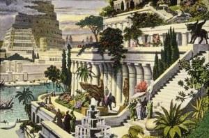 Ilustração dos Jardins Suspensos, Babilônia
