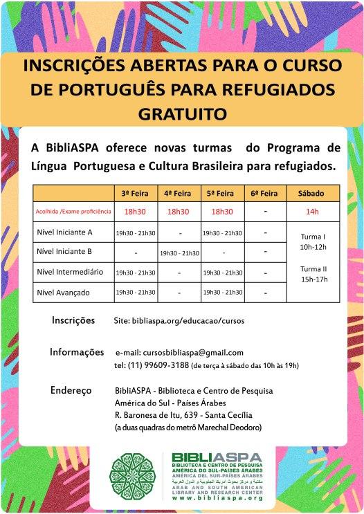 Cartaz Curso de Portugues PORTUGUES-01